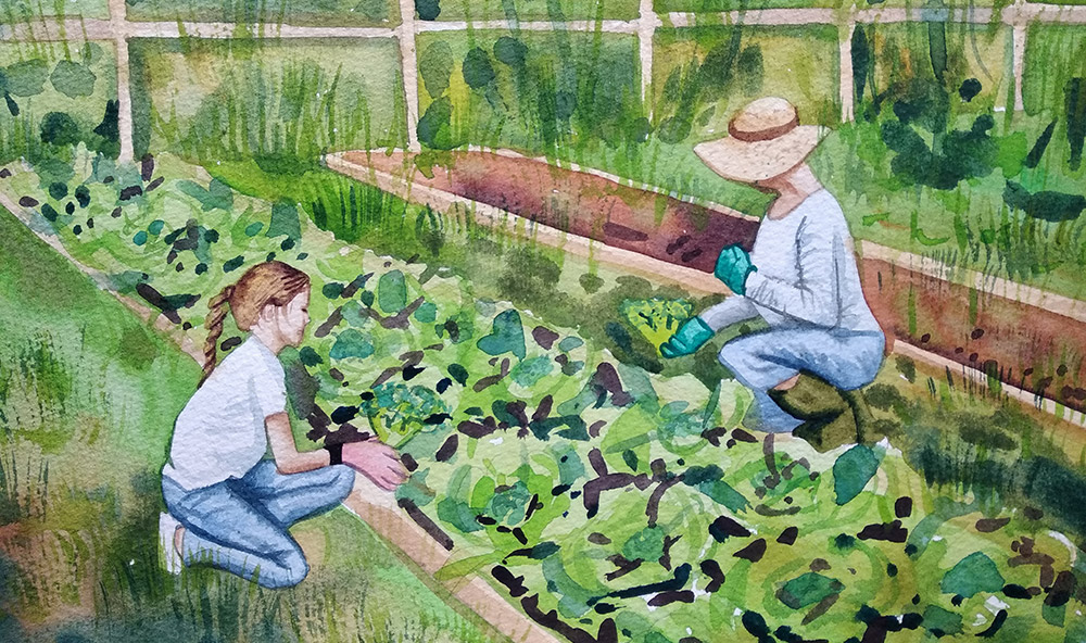 watercolor-gardening